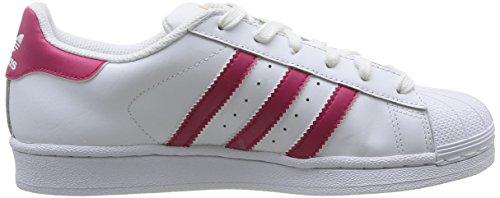 Adidas B23644 Chaussures de basketball, Fille, Running White