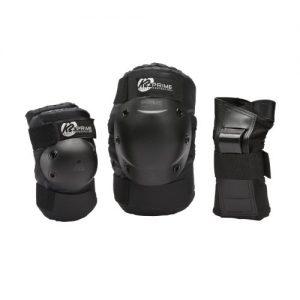 K2-Prime-Pack-de-protge-poignet-coudire-genouillre-Homme-Noir-L-0