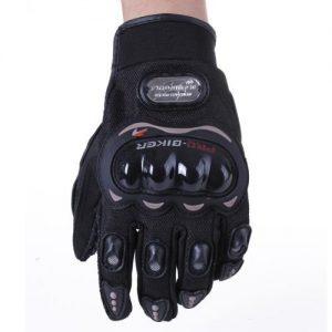 Paire-Noir-Gants-Doigt-Complet-Protection-L-Moto-Vlo-Sport-Femme-Homme-0