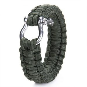 Bracelet-paracord-550-avec-la-survie-dtrave-inox-manille-Vert-Olive-Drab-0