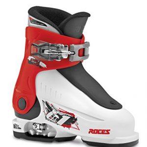 Roces-Chaussures-de-ski-pour-enfant-taille-ajustable-Blanc-Blancrougenoir-2529-0