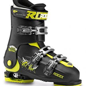Roces-Chaussures-de-ski-pour-enfant-taille-ajustable-Noir-Black-Lime-3640-0