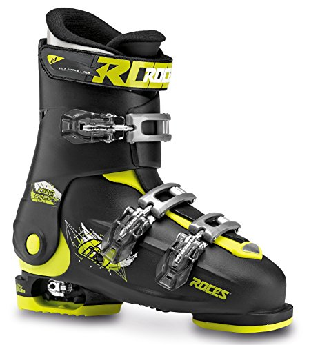 roces chaussures de ski pour enfant taille ajustable noir black lime 36 40 ride and slide. Black Bedroom Furniture Sets. Home Design Ideas