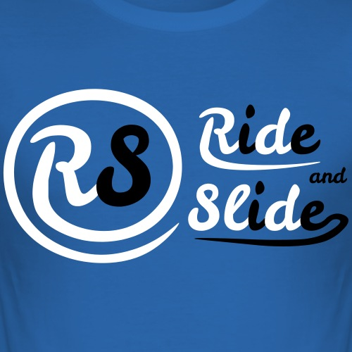 T-shirt blue Ride And Slide black n White