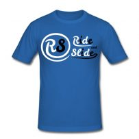 T-shirt blue Ride And Slide black n White