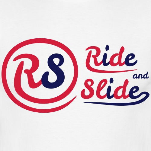 t-shirt blanc ride and slide homme