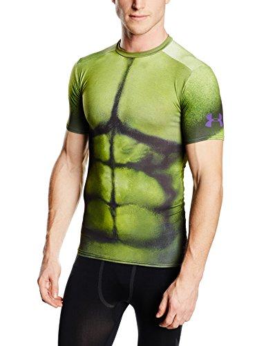 Under armour t shirt de compression pour homme motif hulk for Hulk under armour compression shirt