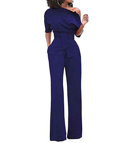 nouvelle version style de la mode de 2019 officiel Carolilly Chic Combinaison ou Combi-Short Femme Epaules Dénudées Manches  Courtes à La Mode