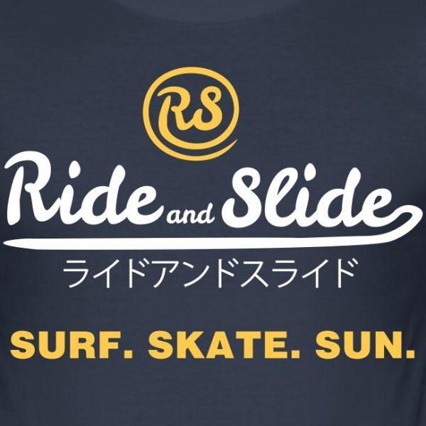 t-shirt ride and slide jpn surf skate sun