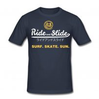 t-shirt ride and slide jpn surf skate sun
