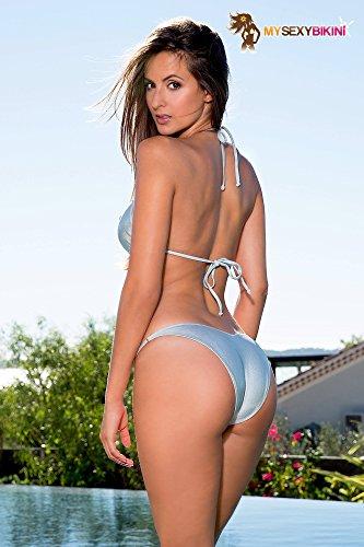 15a5cda0c6 Maillot de Bain Femme Tanga Bikini brésilien Bleu Orange Vert Or Argent  métallisé – Brazil