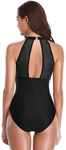 SHEKINI Maillot de Bain Femme 1 Pi/èce Amincissant Elegant Bikini Body Guide Monokini Vintage Taille Haute Transparent Engrener Ruch/é Triangle Bikini Rembourr/é Beachwear